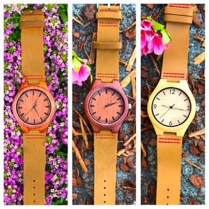 Wooden watches (NEW) with tag n box